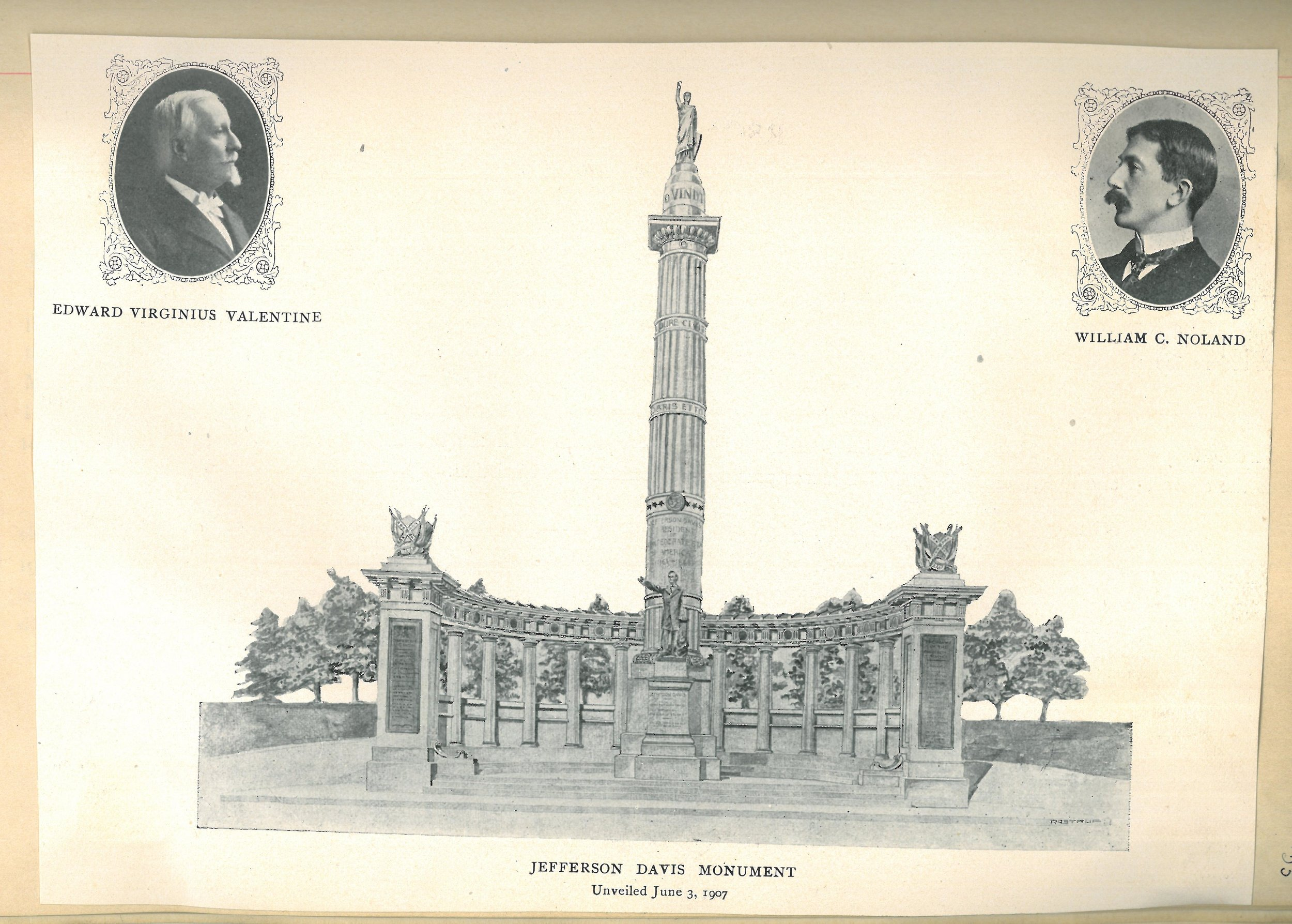 Jefferson Davis monument and architects from Rutherford scrapbook.jpg