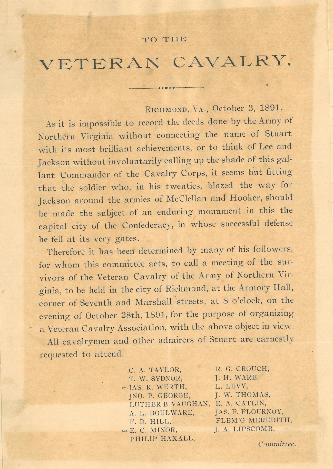 Stuart monument circular on page 3 of minute book.jpg