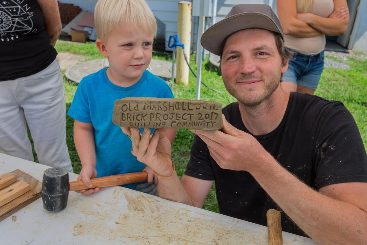 building communityAbout the artist - Josh Copus started the Building Community project as a student at UNC Asheville in 2006. He's sent bricks to many states and countries, world leaders and fellow potters. He lives in Marshall, North Carolina.Josh is a prolific ceramic artist, in addition to a brick maker. Find his sculptural vessels at Blue Spiral 1 and Clayspace in Asheville. Visit joshcopus.com to learn more.
