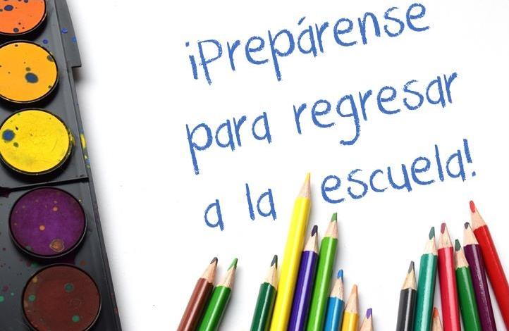 - Prepárense para el nuevo año escolar!