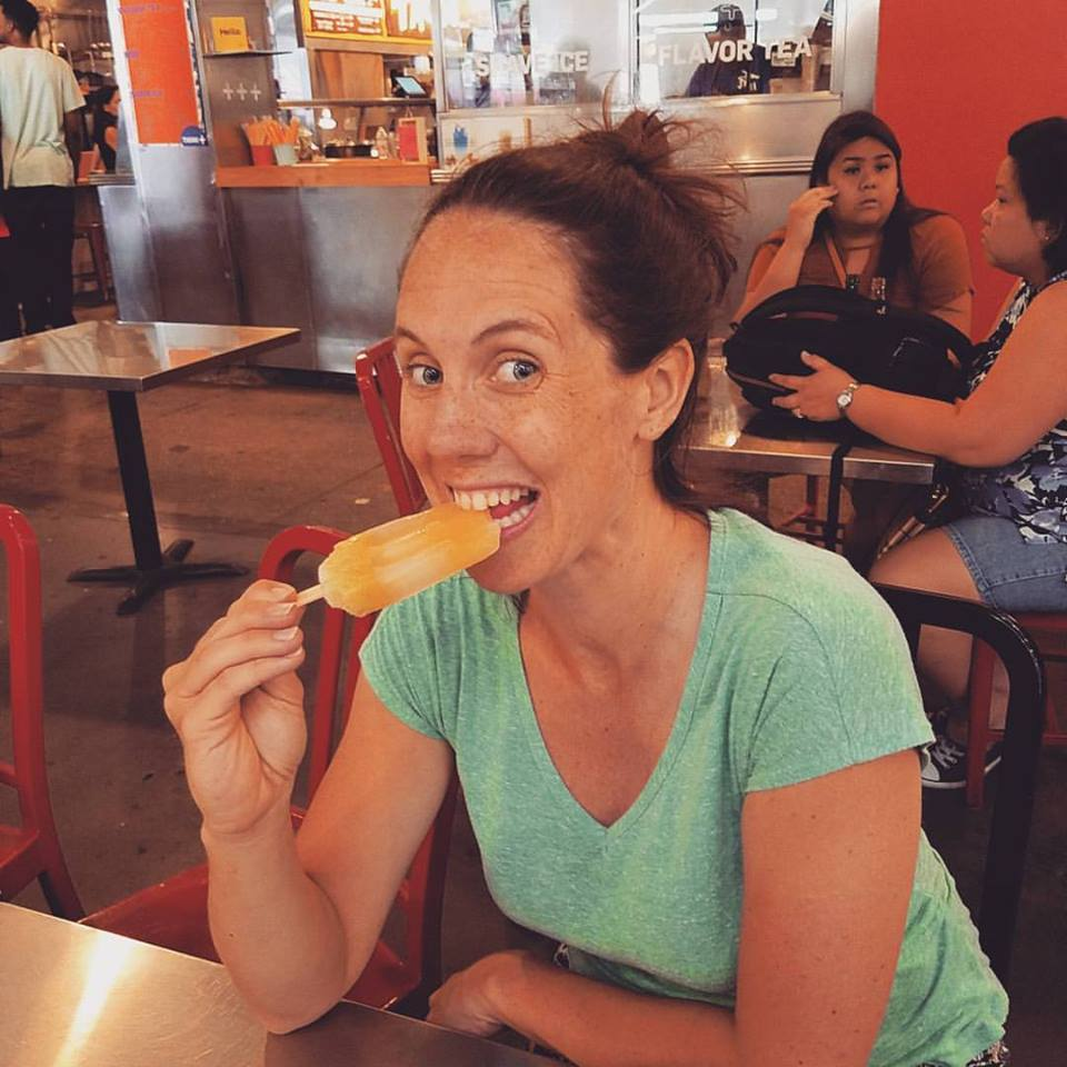 Nothing better than a popsicle when pregnant in July.