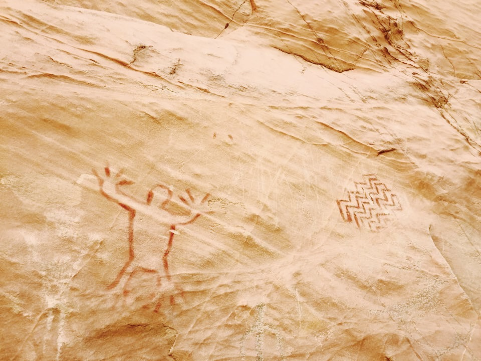 Also some cool petroglyphs.