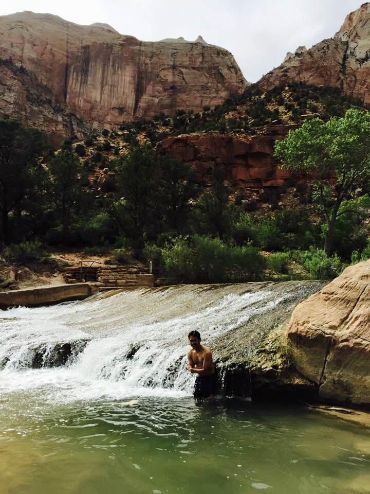 Swimming along the Pa'rus Trail - Zion National Park