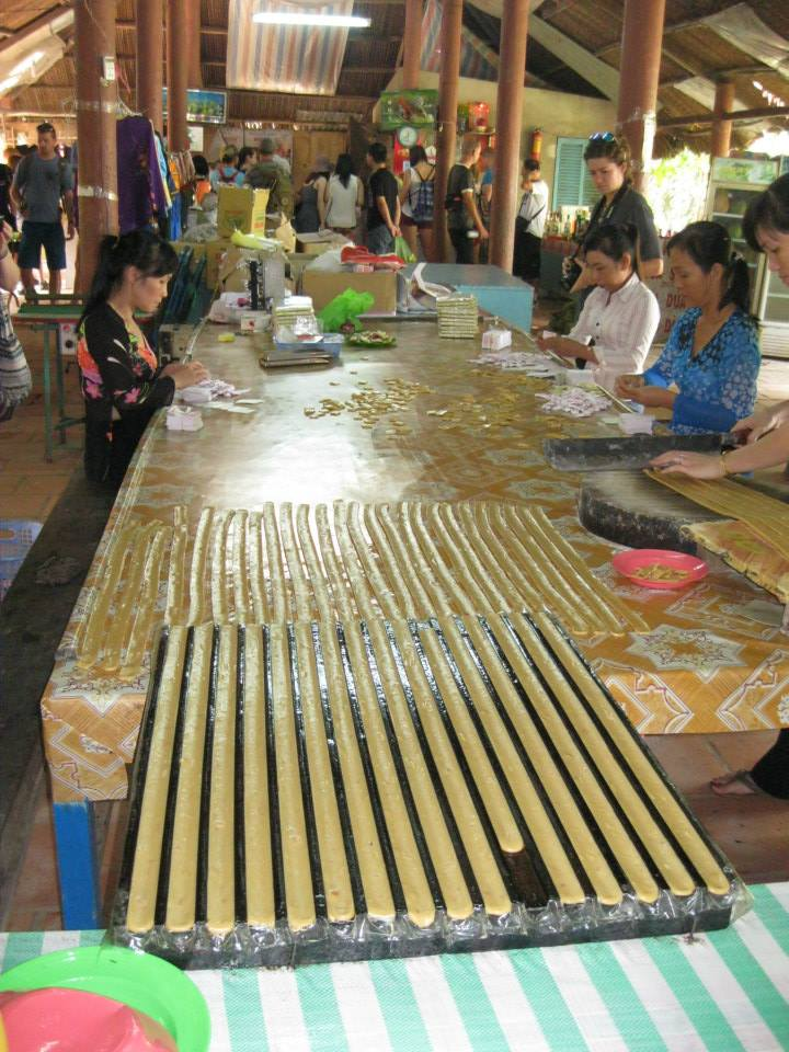 The coconut candy being made. We bought some peanut and water penny flavored ones to take home as souvenirs.
