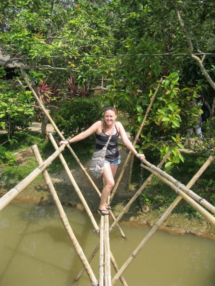 The bridge that protected us from the crocodiles.