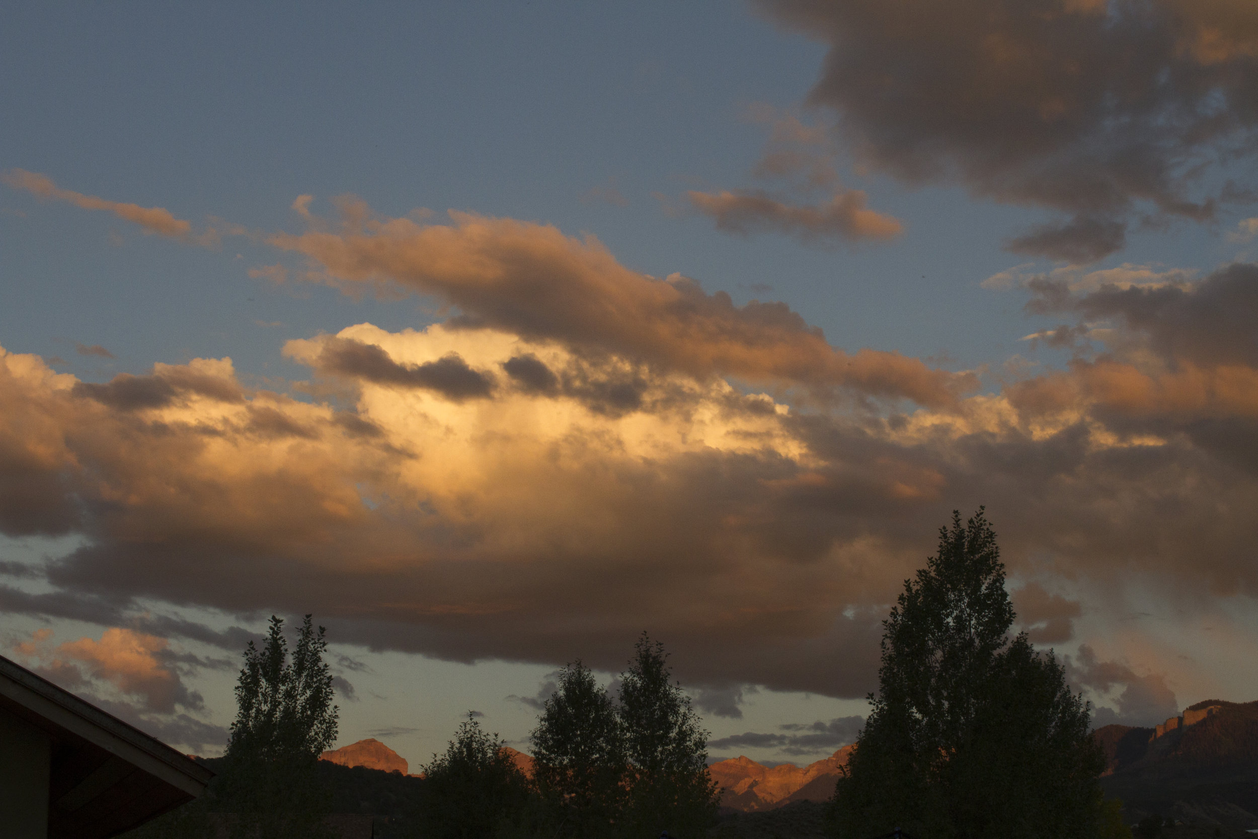 Sunset reflecting on the mountains in Ridgway, CO