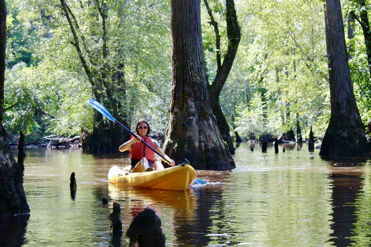 Kayaking on the Nottoway River in Virginia