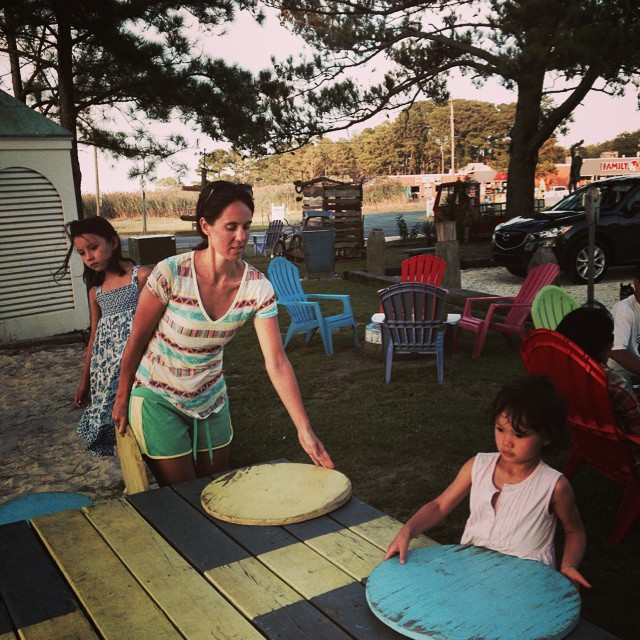 Tons of fun yard games at Woody's Beachfront BBQ.