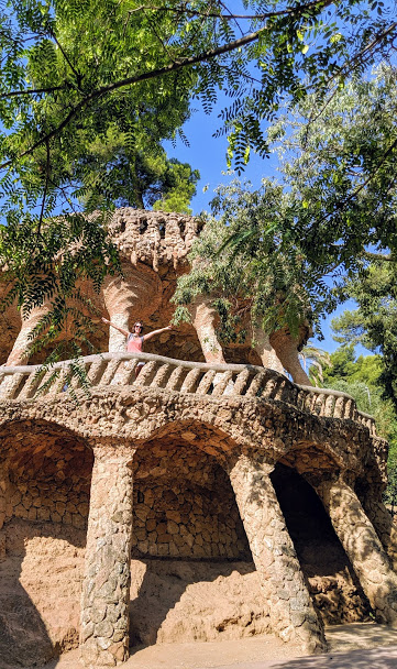 There are some less iconic spots at Park Guell which are quite lovely as well.