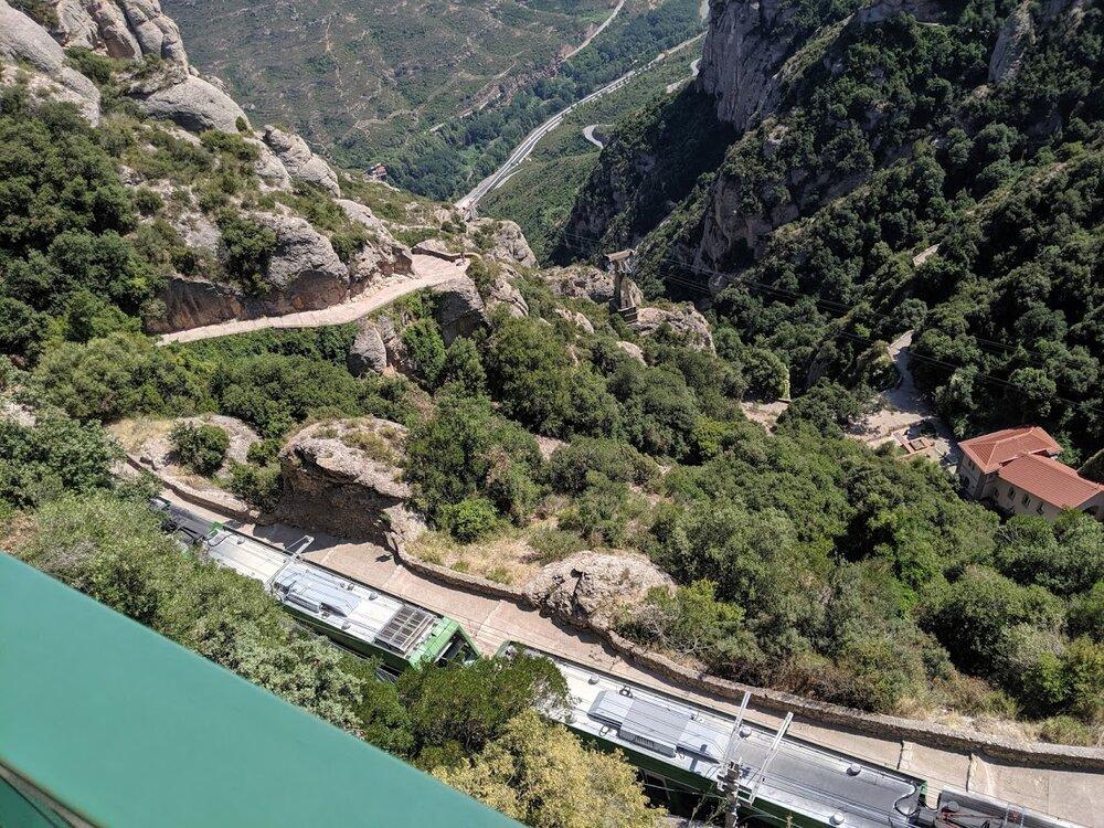 Montserrat Train Ride with Kids