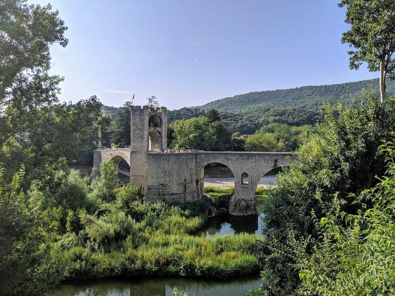 12th century Romanesque bridge over the Fluvia River.