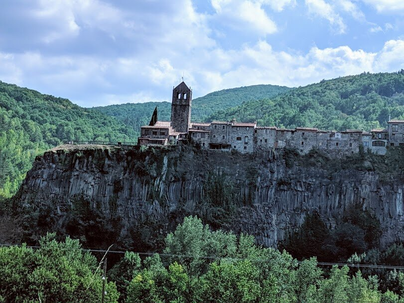 Castellfollit de la Roca from the road. In all honestly, the town itself isn't as pretty.