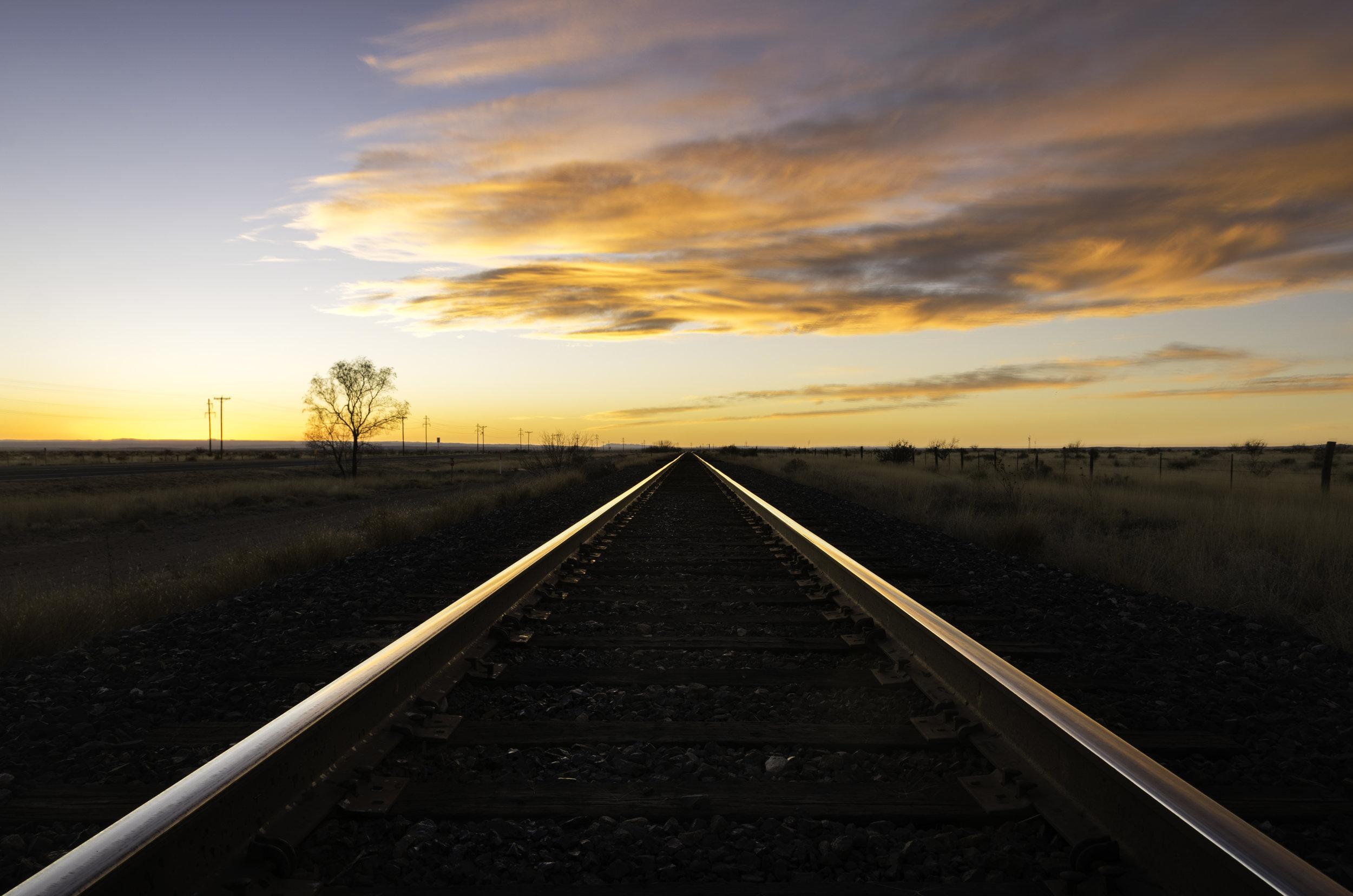 Railroad Tracks Sunset.jpg