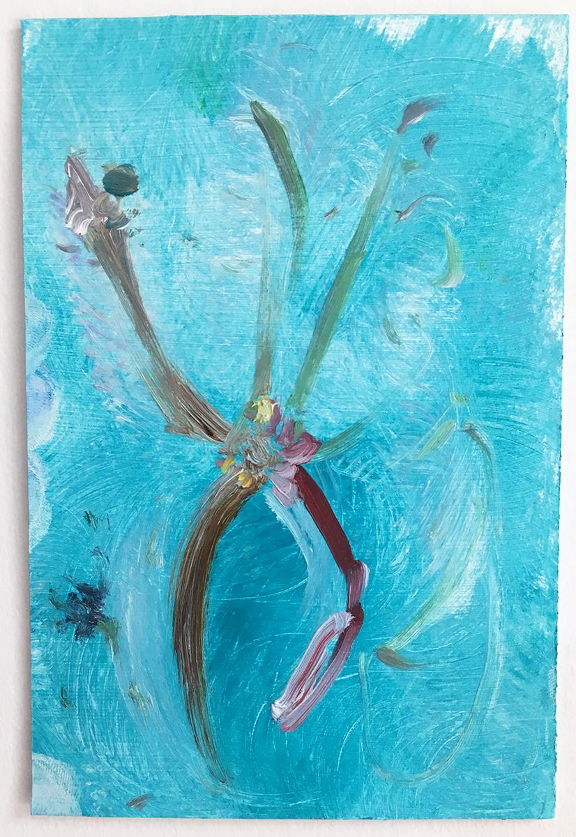 Jasmonate  2017 oil on paper 6 x 4 in.