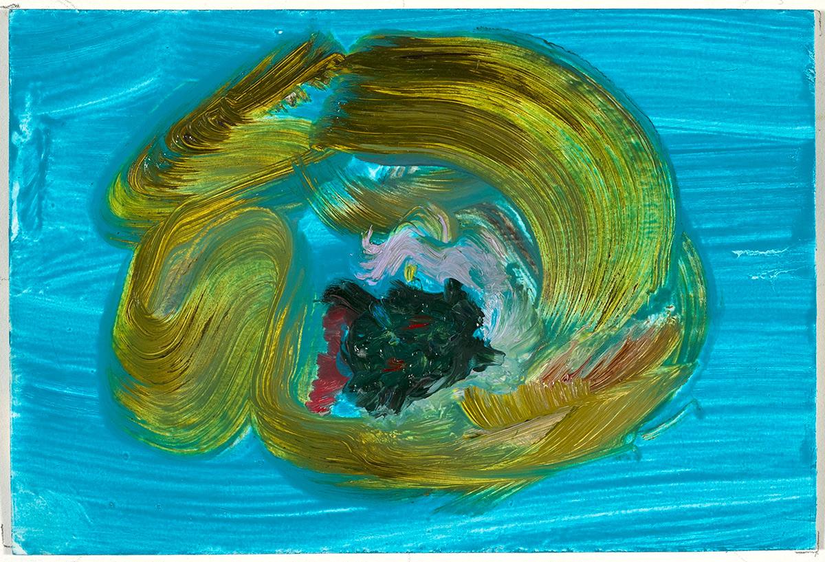 Ripe and Ruin  2017 oil on paper 4 x 6 in.