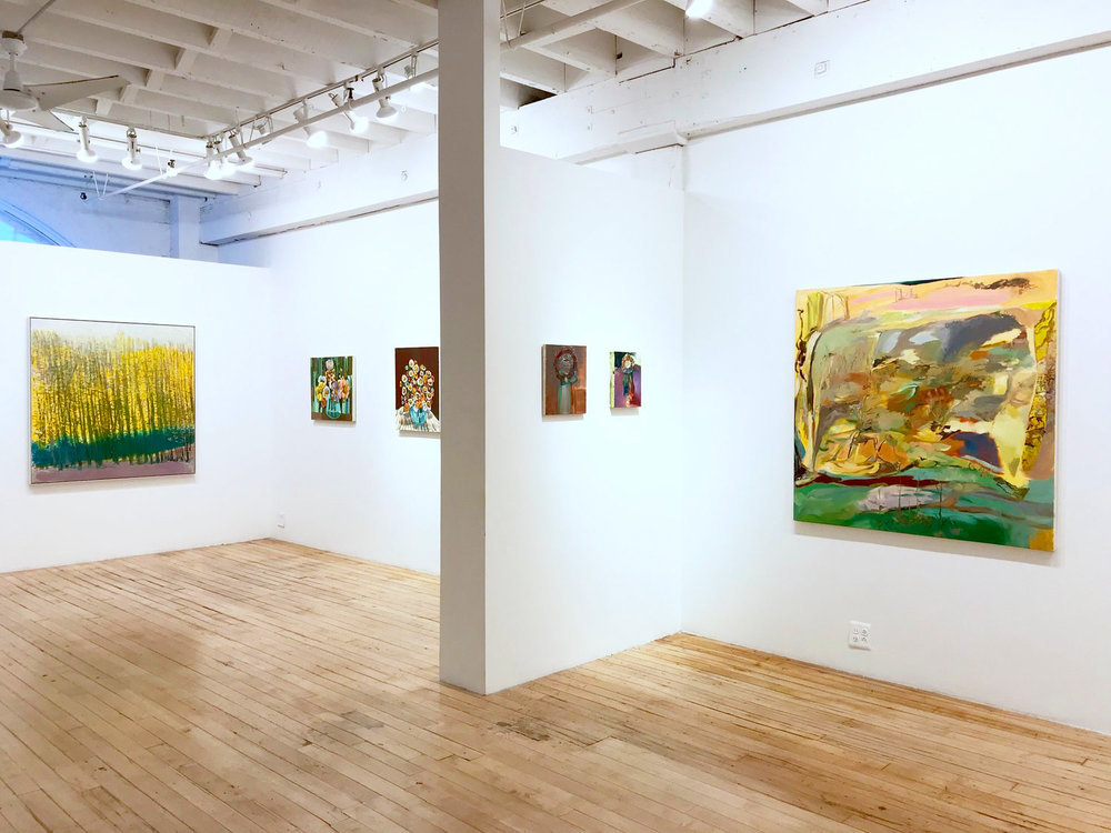 Wolf Kahn, Judith Linhares, and Ashley Garrett The Painting Center, NY  March 2018
