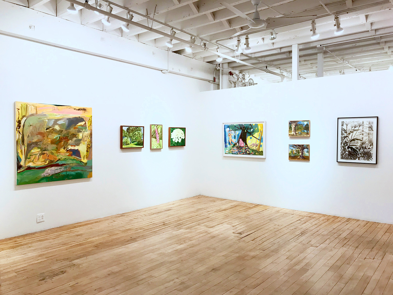 Cultivate Your Own Garden , The Painting Center, NYC   Ashley Garrett, Lois Dodd, Judith Linhares, Ruth Miller, Elisabeth Condon