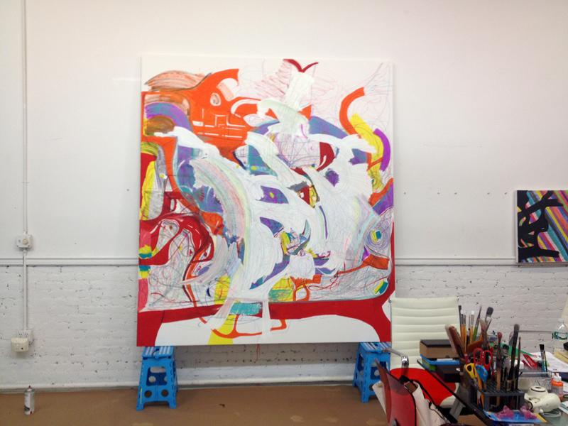 Joanne Greenbaum's Tribeca studio.