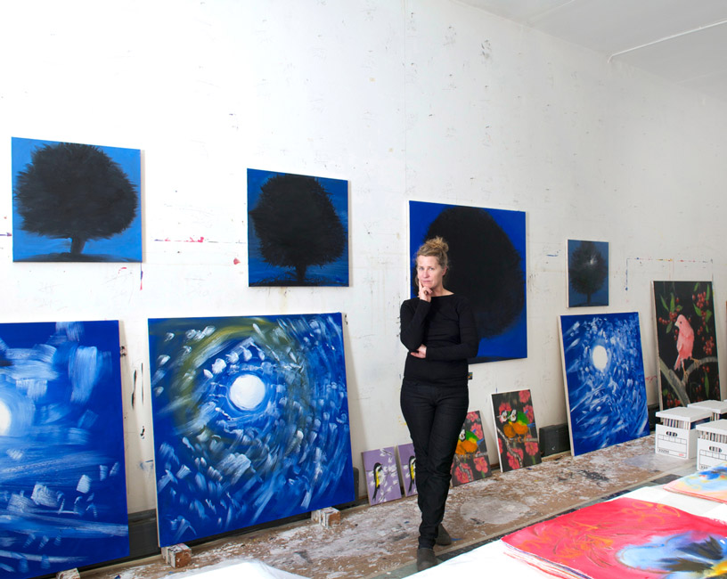 Ann Craven in her New York studio, November 2012. Courtesy Ann Craven Studio.