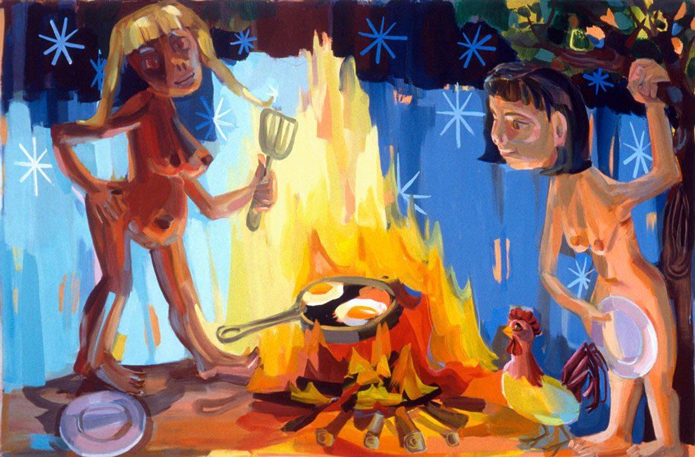 Cook, 2005, 57 x 78 in., oil on linen