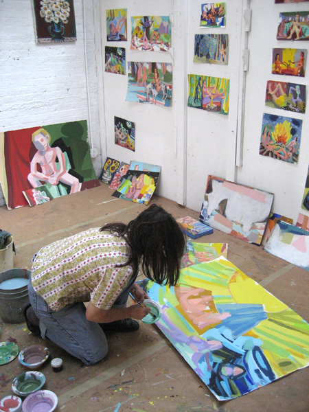 Linhares in her Brooklyn studio