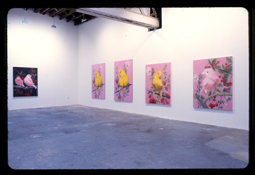 Ann Craven, installation view at Klemens Gasser + Tanja Grunnert, New York, 2002. Courtesy Ann Craven Studio.