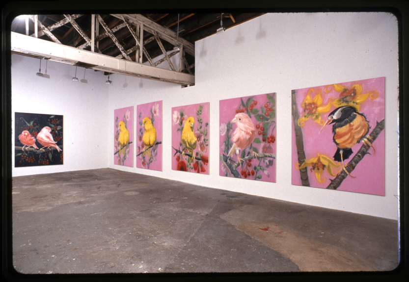 Ann Craven, installation view at Klemens Gasser + Tanja Grunnert, New York, 2004. Courtesy Ann Craven Studio.