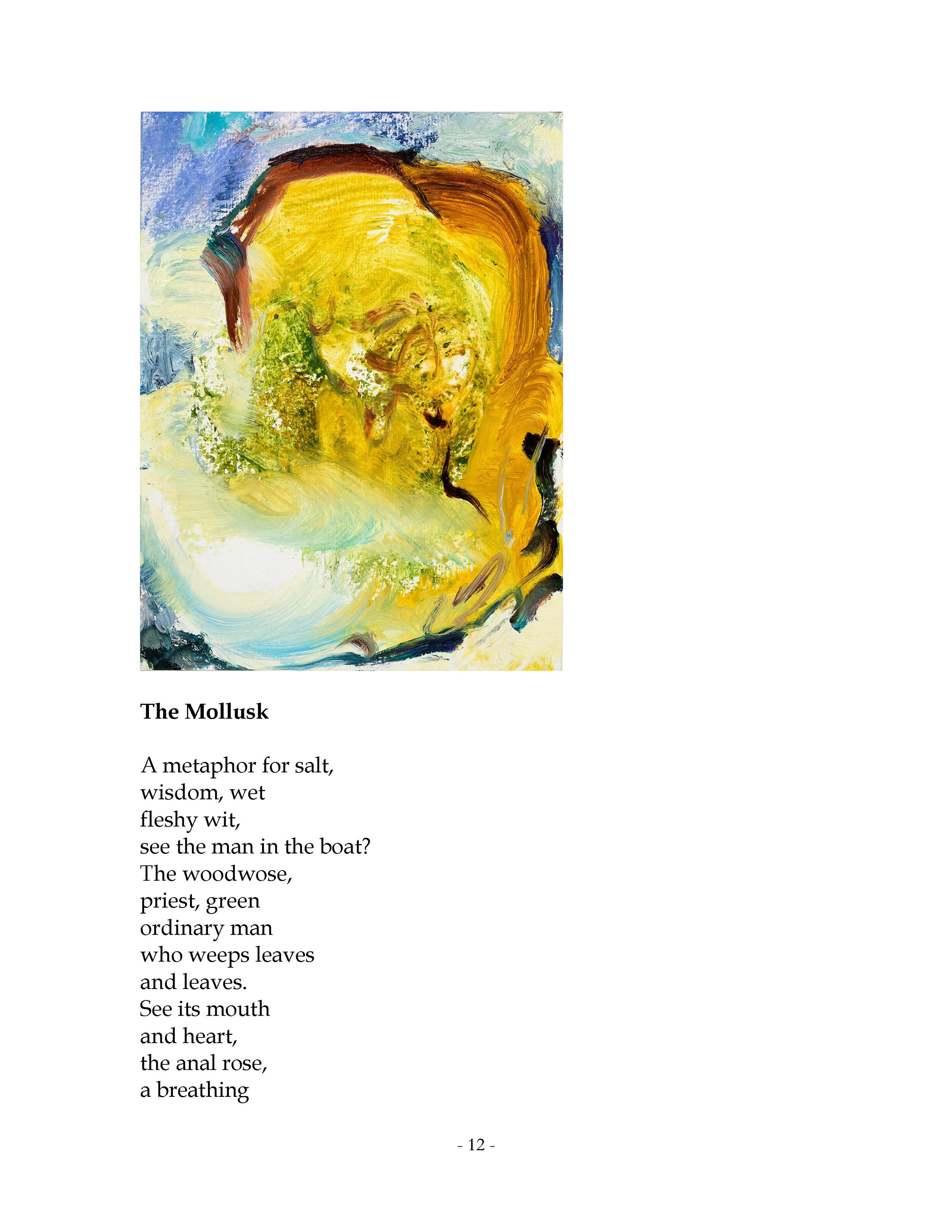 The Mollusk  by Billie Chernicoff Pages 12-13 Published by  Metambesen  Annandale-on-Hudson, 2019