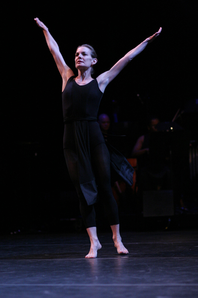 Molissa performing a re-staging of  Hemispheres  in 2006. Photo © Paula Court, courtesy the artist.