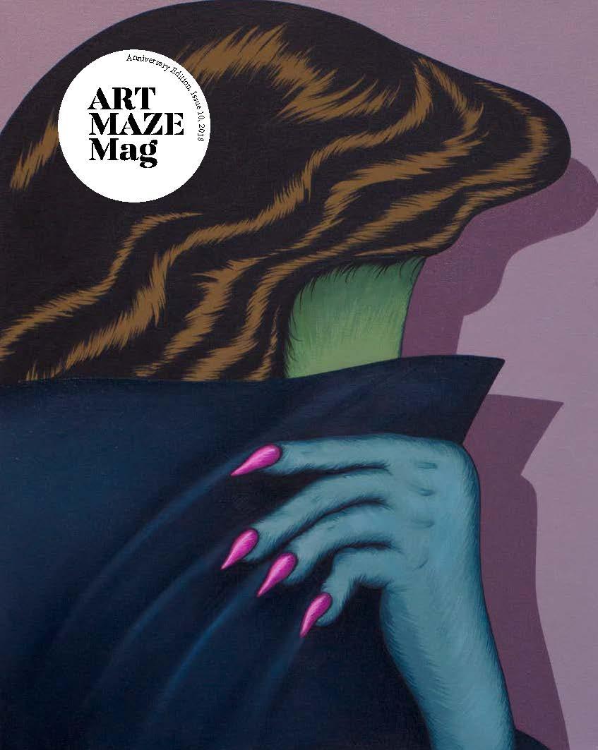 Art Maze Mag   Anniversary Ed., Issue 10 Cover: Julie Curtiss
