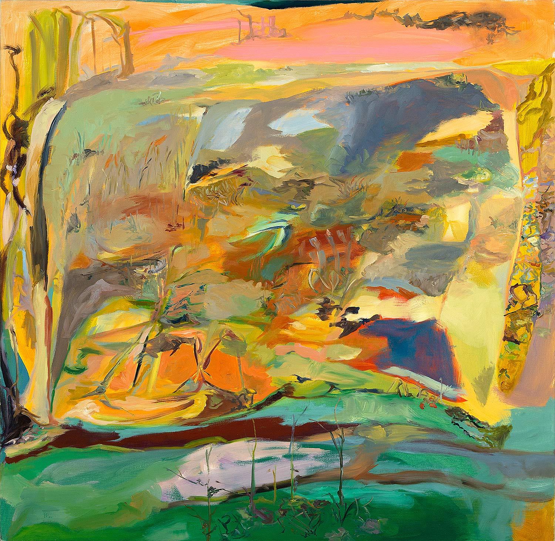 Ashley Garrett.  No Exit , 2015, oil on canvas, 48 x 49 in.