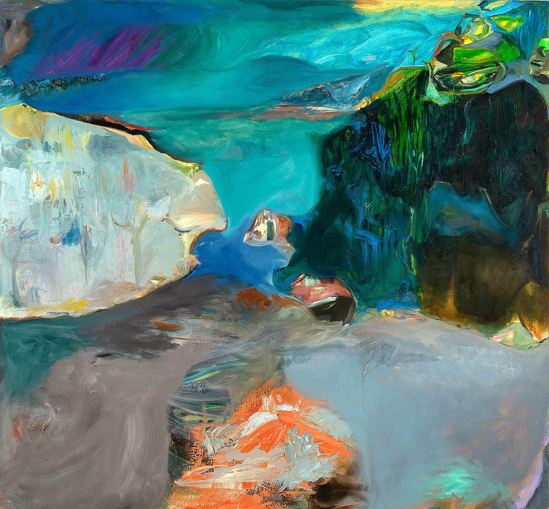 Ashley Garrett.  Sossusvlei , 2016, oil on canvas, 50 x 54 in.