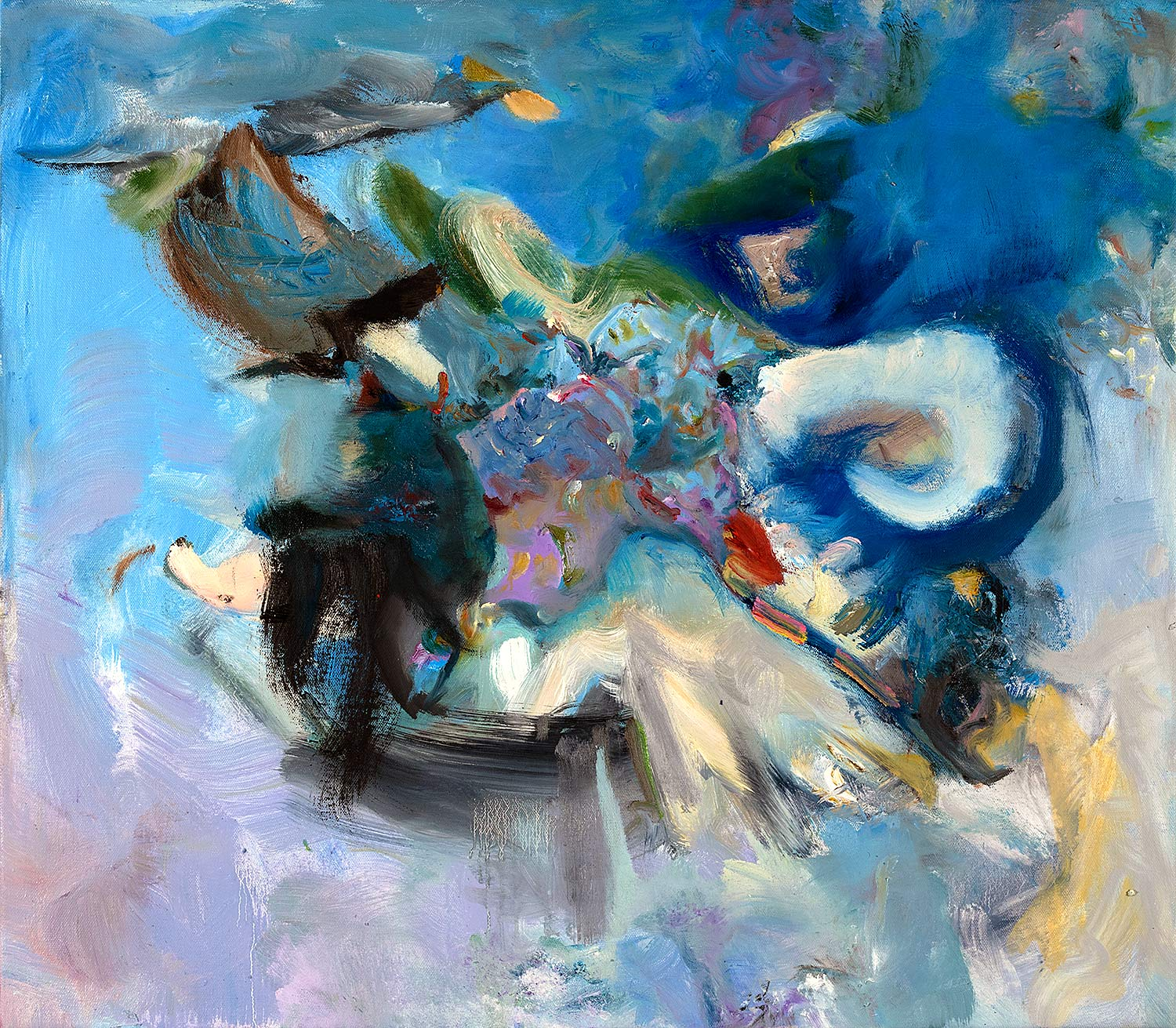 Cherubim  2018 oil on canvas 22 x 25 in.