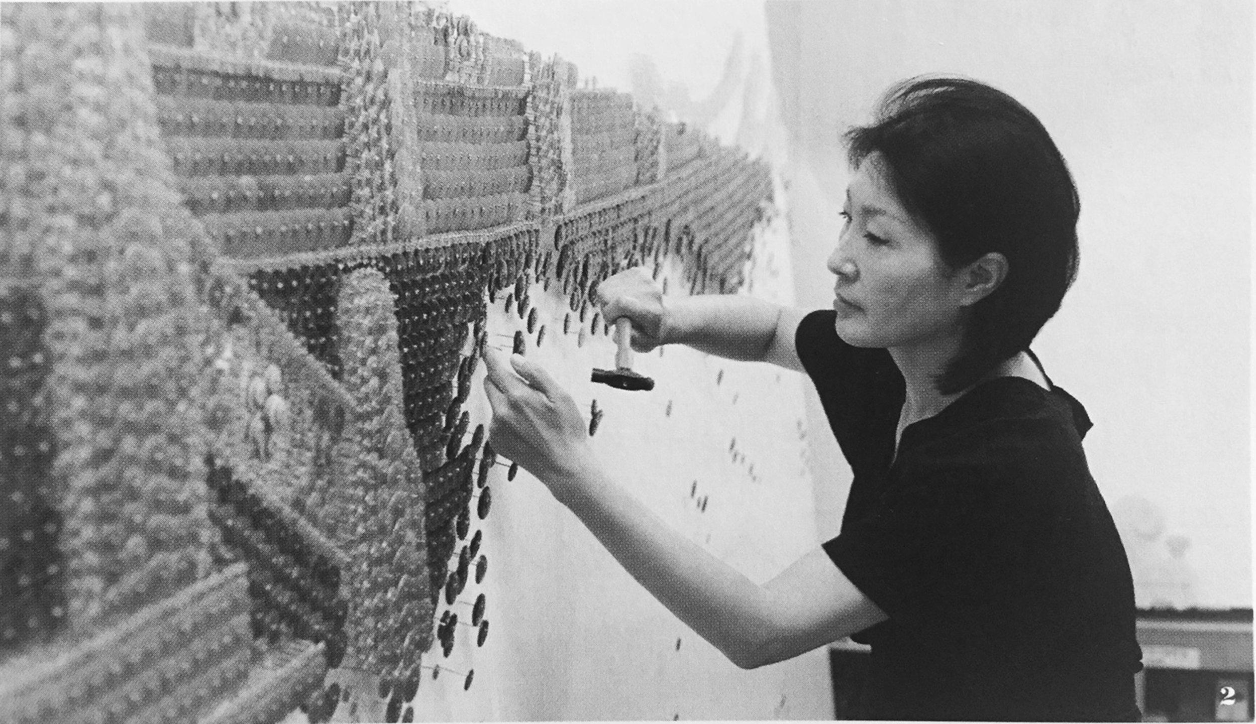 Ran Hwang at Work  (Photo Courtesy of the Artist)
