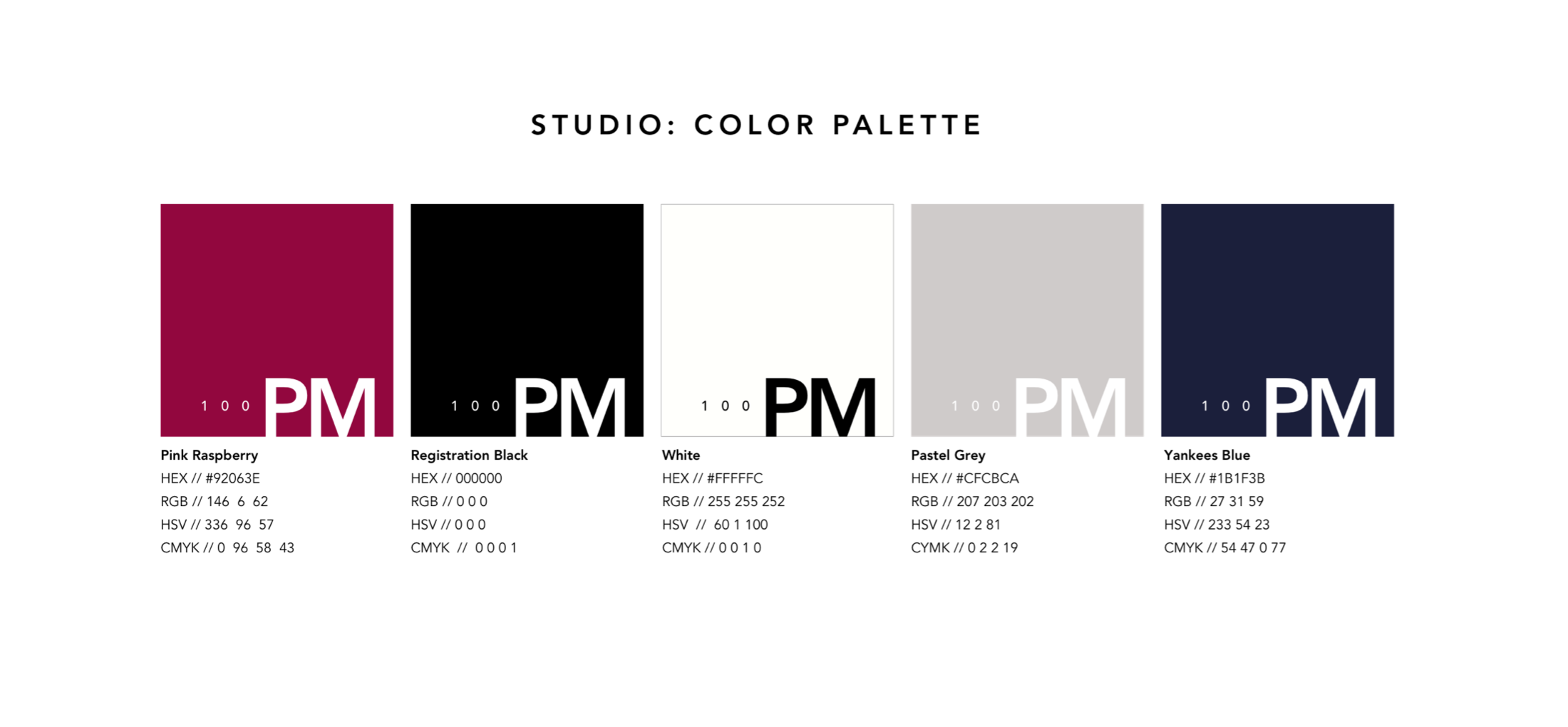 San Do UX Designer 100 Product Managers Color Pallette