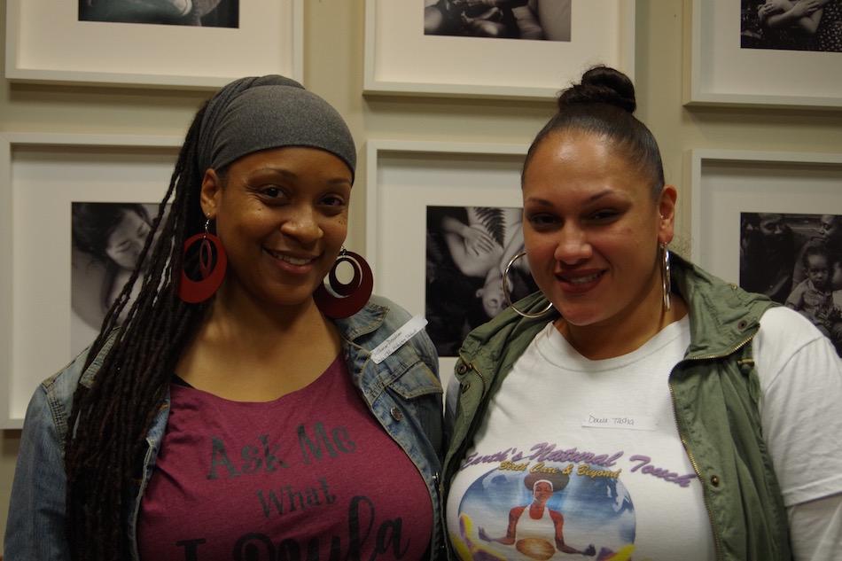 Doulas SciHonor Devotion and Natasha Ortiz. Lucy Gellman Photo
