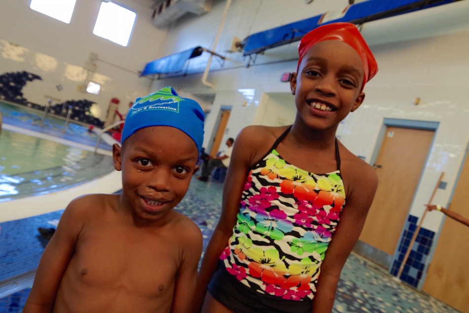 Joseph and Asia Murphy. While this is Joseph's first season swimming, his sister has been in the program for three seasons.
