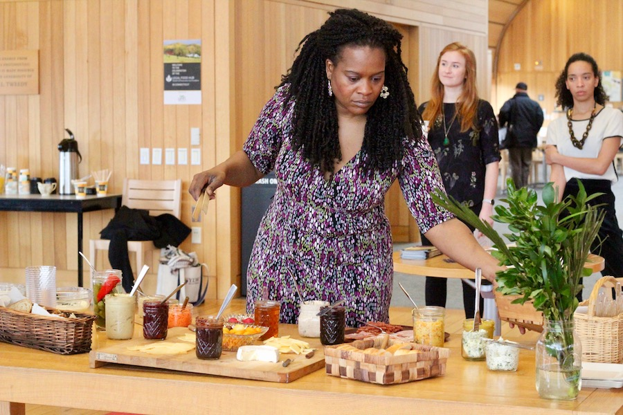 Chef Nadine Nelson, founder and director of GlobalLocal Gourmet, at the event. Lucy Gellman Photos.