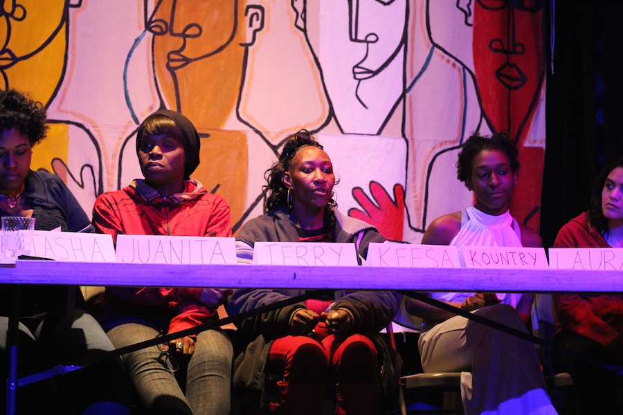 """""""I'd want women to know that they're not alone,"""" said panelist Keesa Figgs Desilva in an interview before the panel. During the panel, she added: """"Let's bring these women home."""" Lucy Gellman Photos."""
