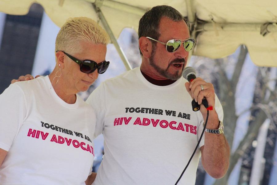 HIV Advocates Pattie Thomas McKnight and Gary Blick.