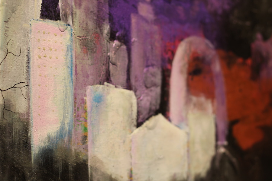 A detail from Heidi Geist's  Lost City . Lucy Gellman Photos.