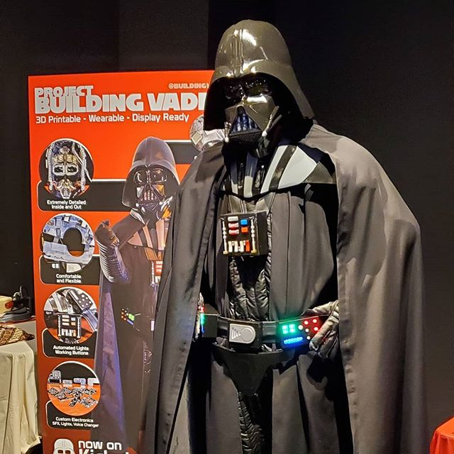 Today was great at the @vanmakerfaire. Met tons of great people and some I didn't expect to meet - like someone from @lucasfilm asking about the suit. Follow @BuildingVader for more.  Want one? It's on Kickstarter.  Link in Bio.  Follow me for more info.  You can get the entire suit, the upper body, or just the helmet. Kickstarter coming soon!  The suit is fully wearable and display ready inside and out. Nothing like it.  Follow me for more updates in the coming few weeks.  Everything but the clothing and electronics is 3D Printed. Yes that's right, this is the next step in 3D printed designs. You can make the entire thing in an off the shelf 3D Printer.  How do you get one? Follow me to find out about when we launch on Kickstarter.  #darth #darthvader #starwars #lucasfilm #Disney #lukeskywalker #theforce #501stlegion #costume #props #diy #custom #cosplay #starwarsmemes #thedarkside  #kickstarter #crowdfunding #wearabletech #wearable #skywalker #riseofskywalker #starwarscelebration #starwarsnerd #3dprinter #3dprinting #technology #futuretech #3dprint #3dprintable #3dprinters