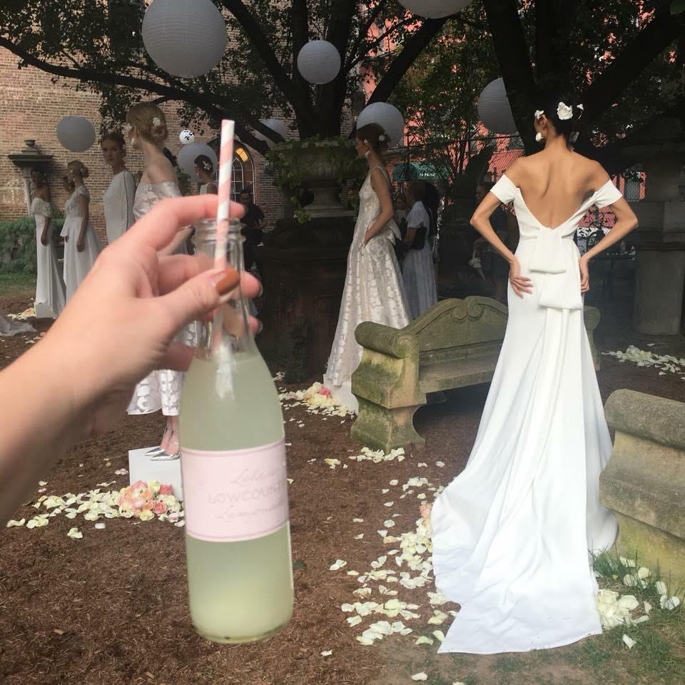 Roberta drinking lela rose's low country lemonade