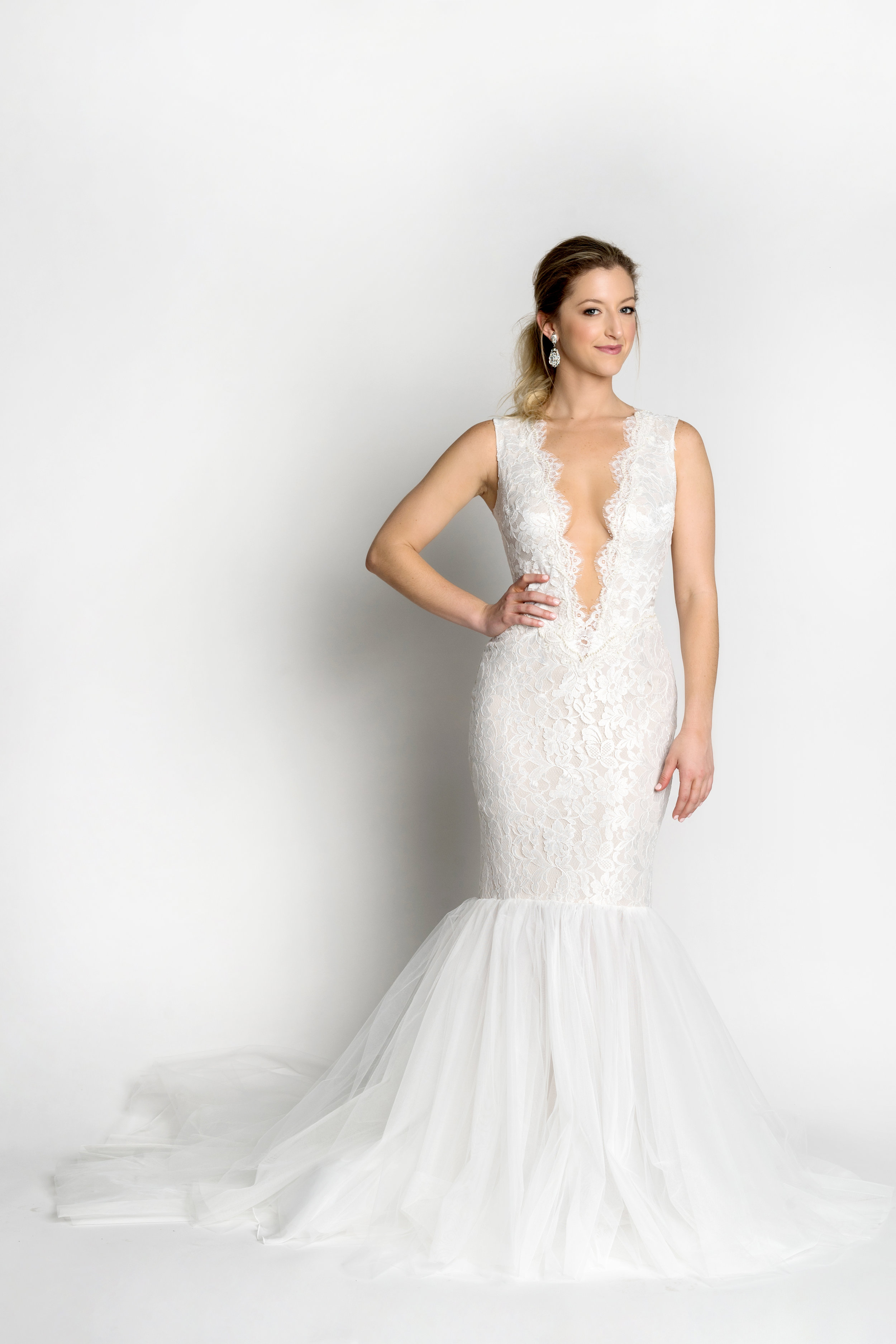 Ines Di Santo wedding dress Impulse available at The Bridal Finery