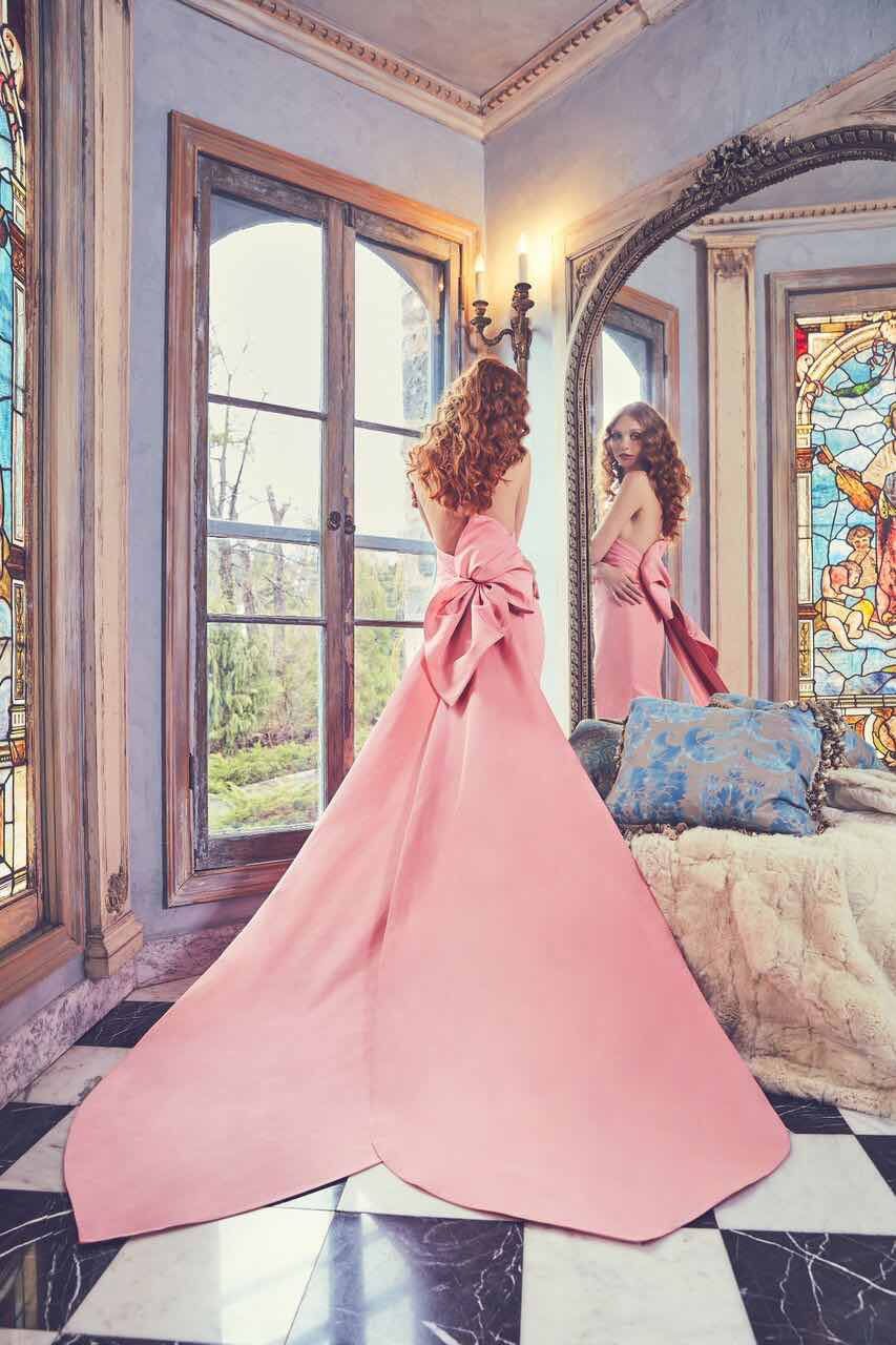 Sareh nouri wedding dress with bow in silk faille