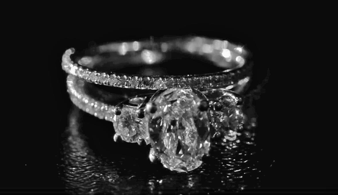 Orlando bride engaged with wedding ring and band wedding dress