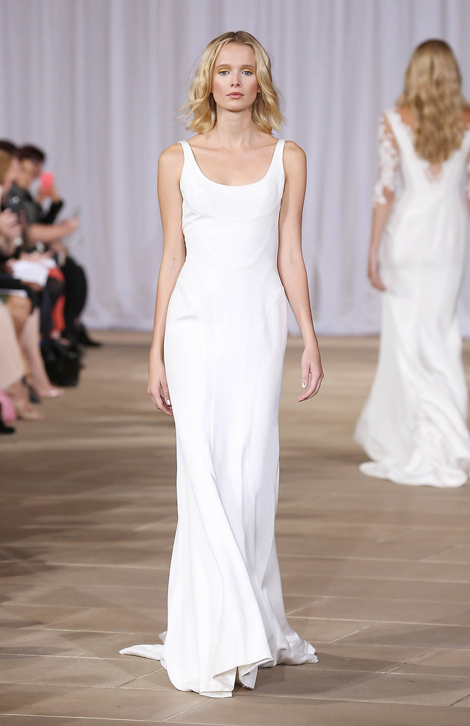 Silk Crepe Wedding Dress by Ines Di Santo - Perfect for Destination Wedding with a Royal Look