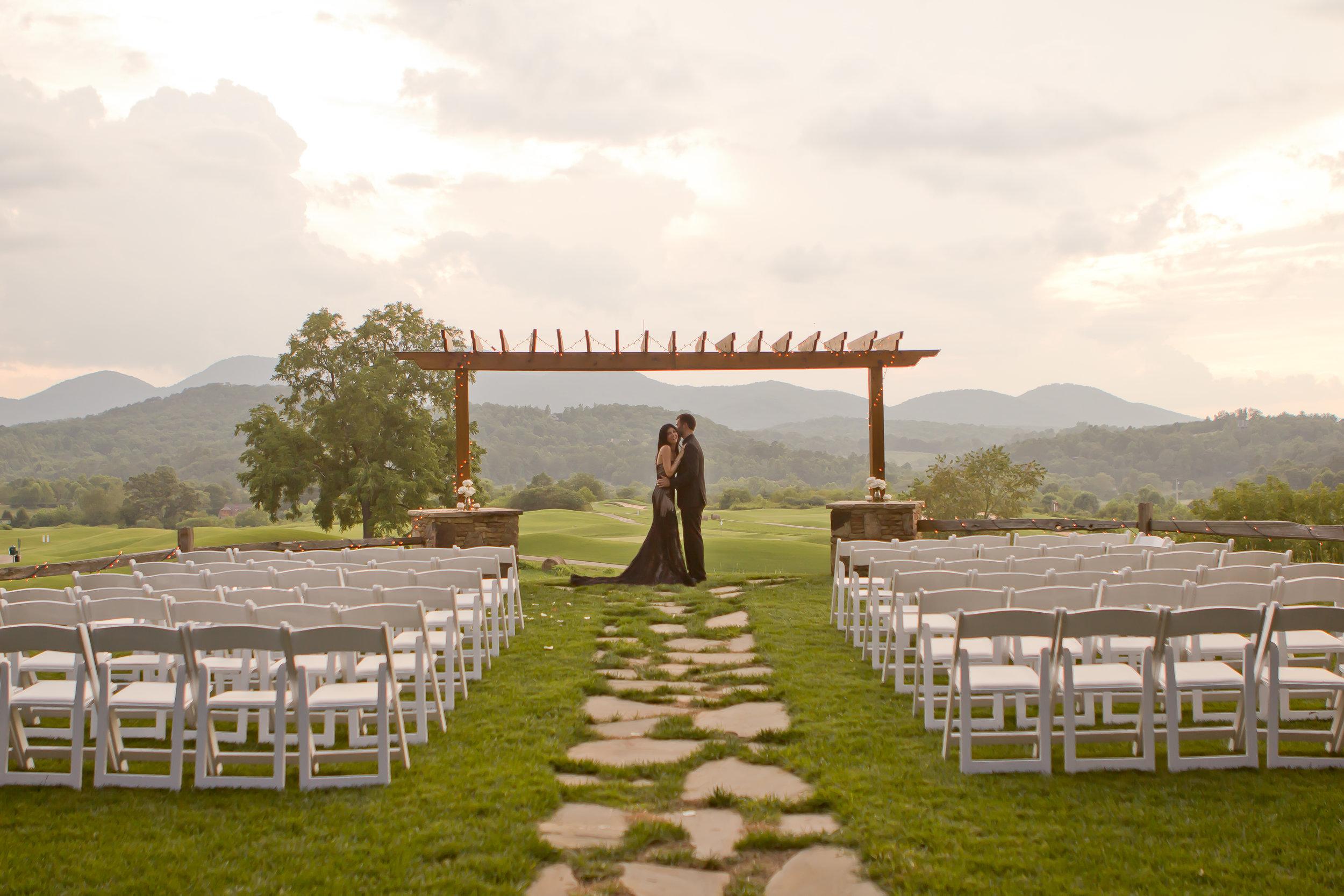 Tali's wedding day in Blue Ridge Mountains