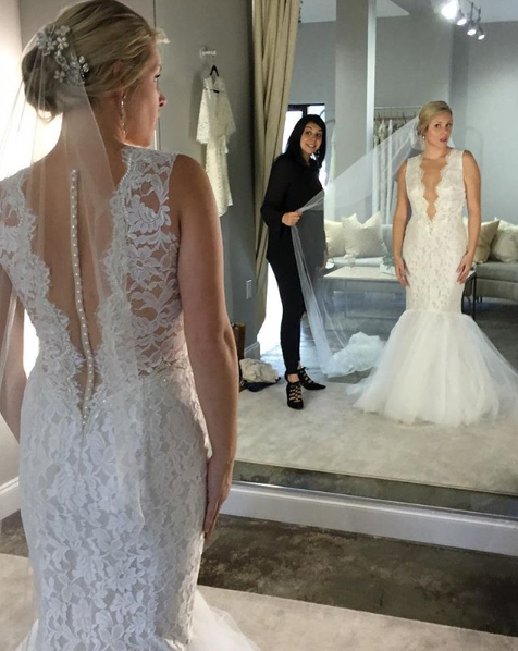 TBF Owner, Tali, styling real bride Amy.