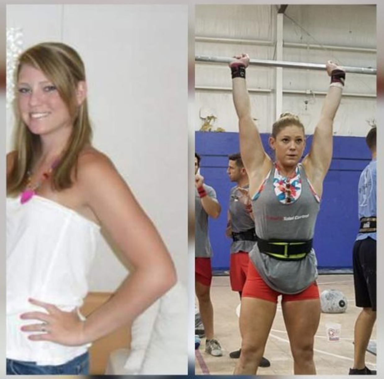 Bride Kelsey: 125 lbs.(June 2011) on the left to 145 Ibs. on the right (June 2018). I'm currently the heaviest, but the healthiest and fittest I've ever been in my life.